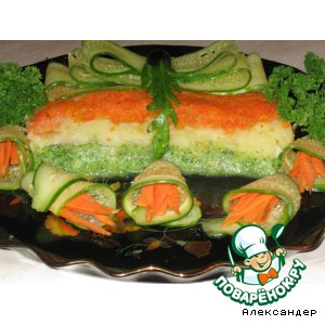 Рецепт: Рыбная запеканка с брокколи Нарядная