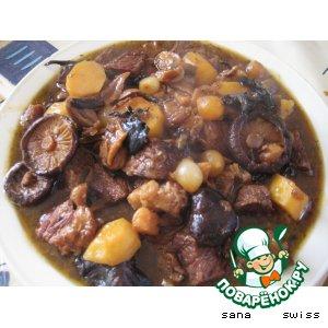 Рецепт: Рагу   из   говядины   и   грибов