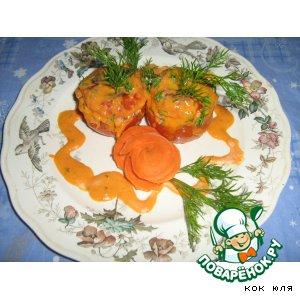 Рецепт: Фаршированые помидоры с соевым фаршем