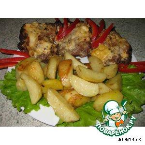 """Рецепт: """"Мясное письмецо"""" с картофелем"""