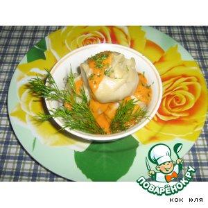 Рецепт: Манты с картофелем и соевым фаршем