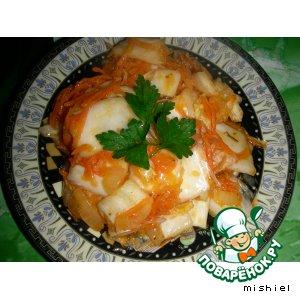 Рецепт: Корейский салат из пекинской капусты