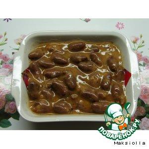 Рецепт: Куриные сердечки в пикантном соусе