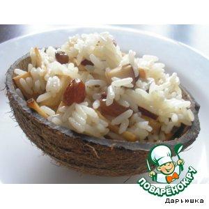 Рецепт: Рис с жареным кокосом