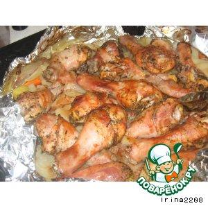 Рецепт: Куриная мозаика