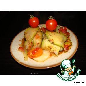 Рецепт: Цукини фаршированные овощами