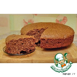 Рецепт: Постный шоколадно-вишневый пирог