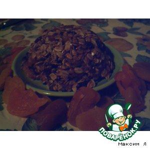 Рецепт: Овсяный десерт с сухофруктами