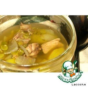 Рецепт: Гороховый суп с бараниной