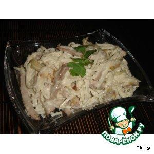 Рецепт: Салат с говядиной и дайконом
