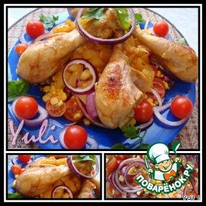 Рецепт: Куриные ножки в маринаде по-карибски