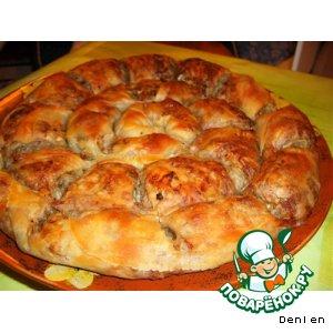 Рецепт: Мясной спиральный пирог