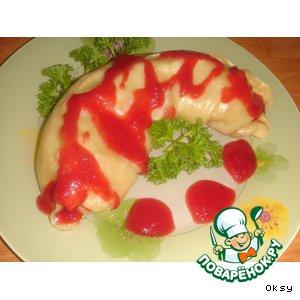 Рецепт: Овощные рулетики под клюквенным соусом