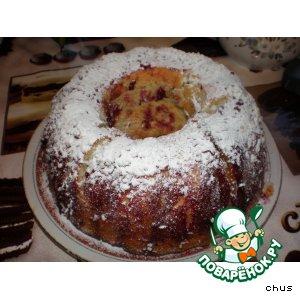 Рецепт: Кольцевой кекс с кокосом