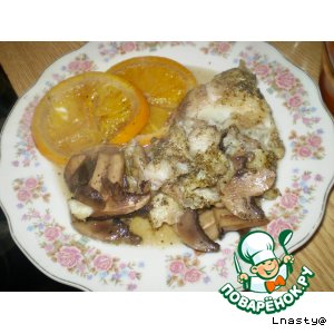 Рецепт: Рыба с апельсинами в горшочках