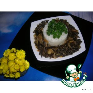 Рецепт: Рис с острым папоротником Весеннее настроение