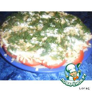 Рецепт: Быстрый и незамысловатый салатик из сельди