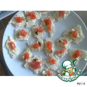 Рецепт: Легкая закуска из красной рыбки