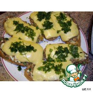 Рецепт: Бутерброды с тунцом и сыром