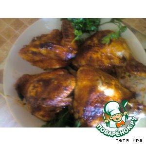 Рецепт: Курица в томатной заливке