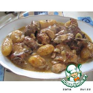 Рецепт: Кролик в горчичном соусе