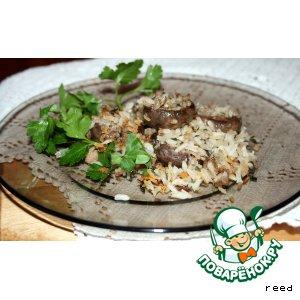 Рецепт: Грибы, фаршированные рисом