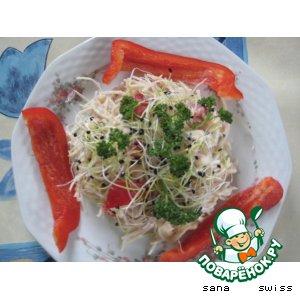 Рецепт: Салат   из   сельдерея   с   тунцом