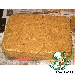 Рецепт: Закусочный торт Рыбный Наполеон