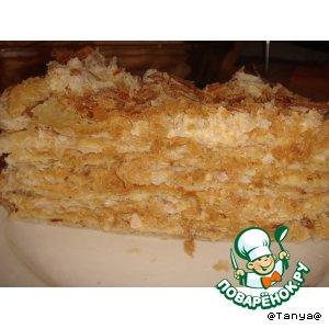 """Рецепт: Торт """"Наполеон с миндалем"""""""