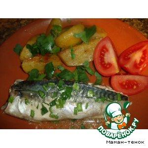 Рецепт: Запеченая рыбка с травами (розмарин)