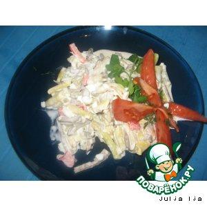 Рецепт: Салат из печени Экспромт