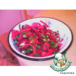 Рецепт: Капуста, маринованная с овощами