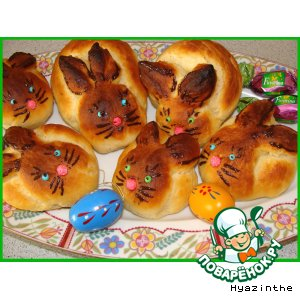 Рецепт: Булочки Зайчата