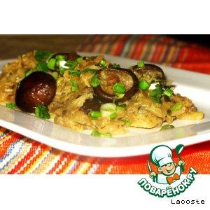 Рецепт: Китайская капуста с грибами шиитаке