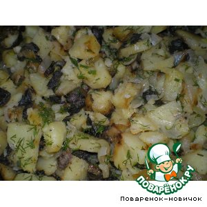 Рецепт: Картошечка с грибами