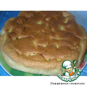 Рецепт Бисквит с яблоками