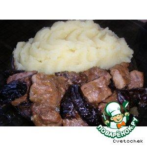 Рецепт: Свинина с черносливом
