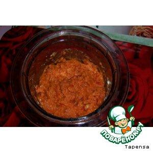 Рецепт: Песто из вяленых помидоров