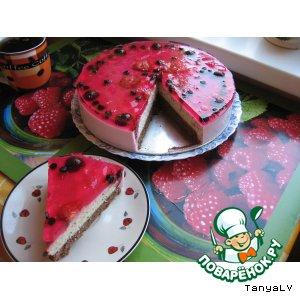 Рецепт: Вишнeвый йогуртовый торт (пирог)