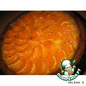 Рецепт: Мандариновый пирог с лимонным кремом