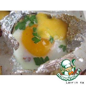 Рецепт: Картошка Глазунья