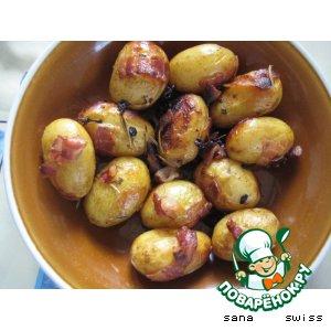 Рецепт: Запеченый   картофель   с   розмарином