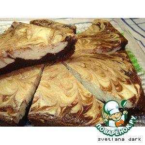 Рецепт: Мраморная творожно-шоколадная запеканка