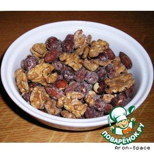 Рецепт: Солeные орешки и солeные семечки