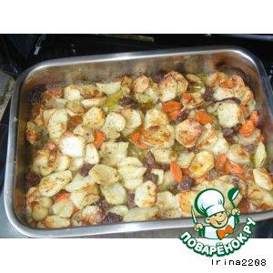 """Рецепт: Картошка """"А-ля гриль"""""""