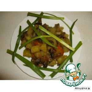 Рецепт: Картошка с грибами по-городскому