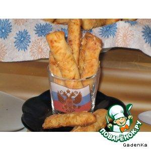 Рецепт: Пальчики хлебные сырные