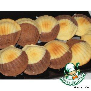 Рецепт Печенье шоколадно-апельсиновые  «А-ля мадлены»