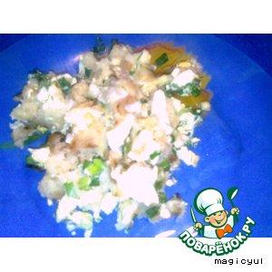 Рецепт: Картофельная запеканка с зеленым луком