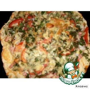 Рецепт: Пицца вечерняя
